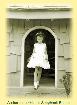 Author as a child at Storybook Forest
